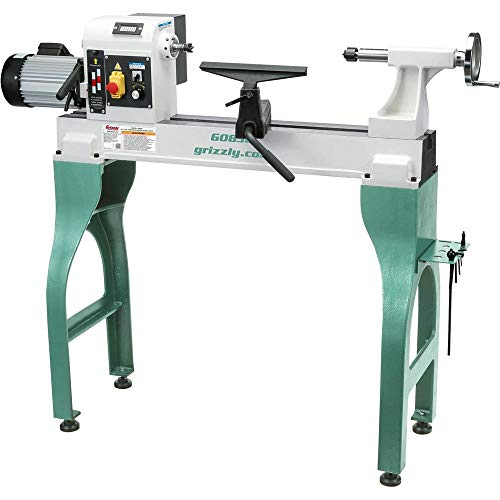 """Grizzly Industrial G0838-16"""" x 24"""" Variable-Speed Wood Lathe"""