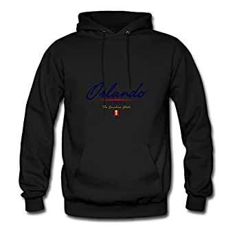 Orlando Script Comfortable X-large Hoody Designed For Women Black