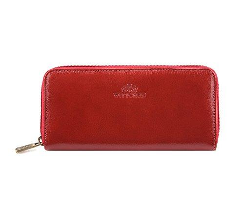 Wittchen Brieftasche | Farbe: Rot| Material: Narbenleder| Größe: 19x9 CM, | Orientierung: Horizontal | Kollektion: Italy| 21-1-393-3