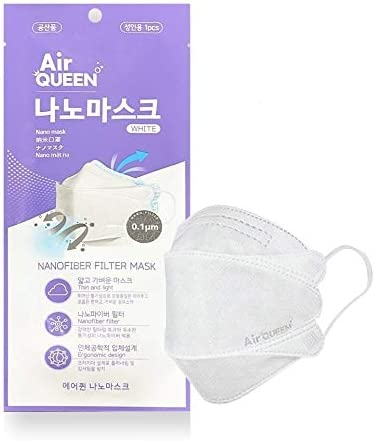 [48 Pack] Authentic [Air Queen] 3-Layers Nano-Filter Face Safety Mask for Adult