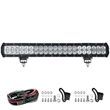 Liteway 20Inch 210W Lumiled LED Work Light Bar with Mounting Brackets & Wiring Harness Spot Flood Combo Driving Lamp Waterproof for Trucks Off road Suv Boat 4X4 Jeep JK 4Wd