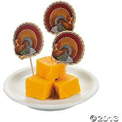 72 ct Thanksgiving Turkey Cupcake or Appetizer Picks