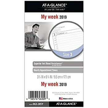 Amazon.com: AT-A-GLANCE planificador semanal/mensual/agenda ...