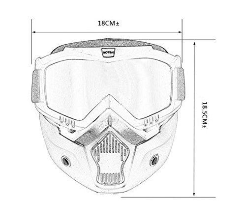 e Impermeable White2 Caballero de Parabrisas del Equipo de Prueba Prueba de a Material explosiones Gafas de la Polvo Arena PC a Prueba XwPq7dx4t1