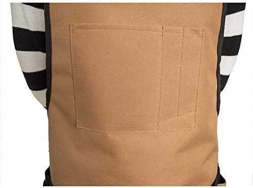 ガーデニングエプロン ポケット、フィット男性と女性のサイズと防水調節可能な耐久性のあるツールエプロン