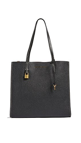 Marc Jacobs Women's The Grind Shopper Tote Bag, Black/Gold, One Size ()