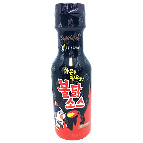 Samyang Bulldak Fire Noodle Spicy Korean Hot Table dipping sauce K-food Mukbang 200g / 7.05oz [삼양 불닭소스] (Best Way To Roast Red Peppers)