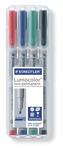 Staedtler Universal pen Lumocolor non-p B 4 Piece (312 WP4)