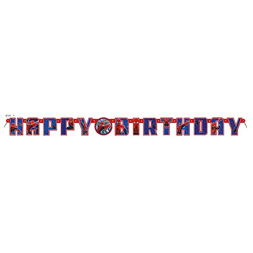 5.5ft Spiderman Birthday Banner