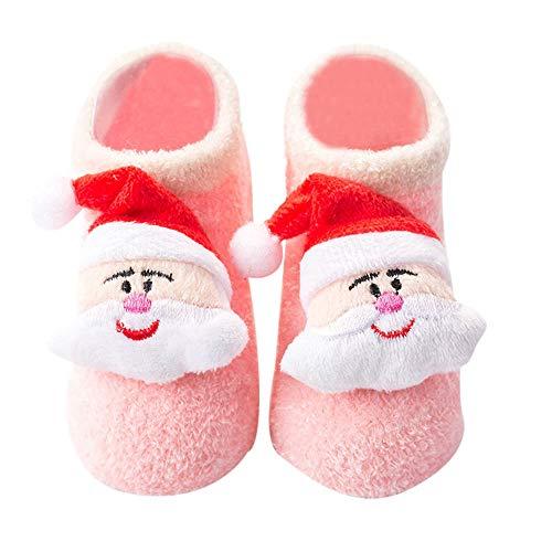HAALIFE◕‿ Baby Socks Rubber Anti Slip Floor Cartoon Kids Toddlers Autumn Spring Fashion Animal Newborn Cute 0-6-12month Pink from HAALIFE Shoes