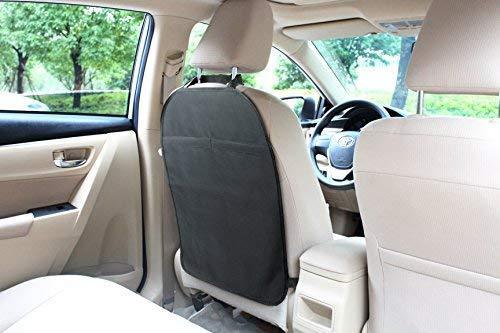 Car Kick Mats (2 Pack) - Heavy Duty Seat Back Protectors, Premium Waterproof Fabric, Reinforced Corners to Prevent Sag