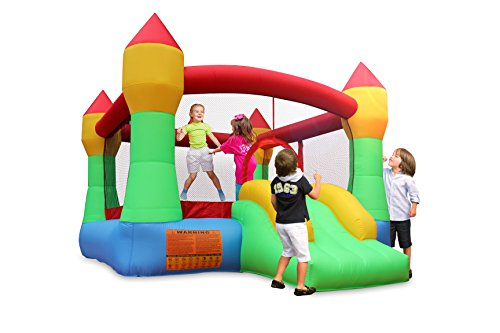 BestParty Inflatable Bounce Jump House Moonwalk Playhouse Slide with Blower (Kids Blow Up Bounce)