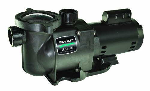 Pentair Sta-Rite N1-2A HP SuperMax Standard Efficient Single Speed High Performance Inground Pool Pump, 2 HP, 115/230-Volt