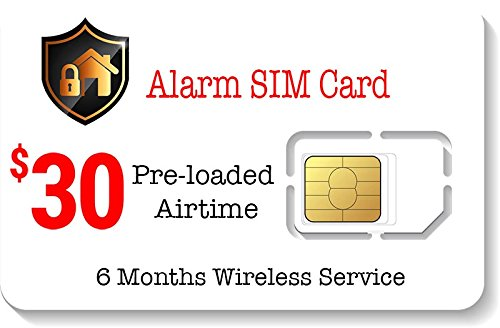 $30 Alarm SIM Card for GSM Home/Business Security Alarm System ()