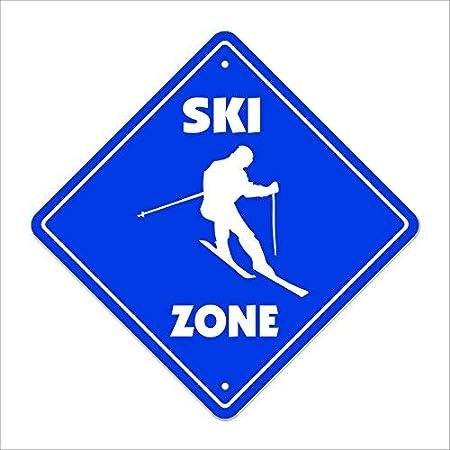 Señal de Cruce de esquí Zone Xing de Alta Resistencia para ...