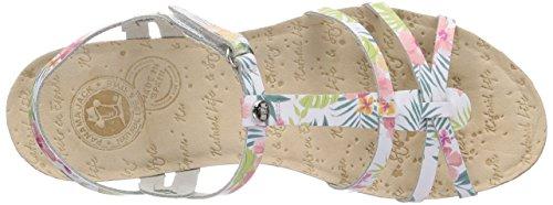 Panama Jack Dori Tropical B1 - Zapatos Mujer Weiß (Blanco / White)