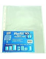 Refil Plástico Furo Universal C/ Tarja Branca PCT C/ 10 Un. 013A YES