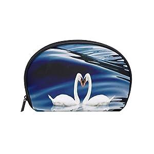 Toiletry Bag White Swan Love Womens Beauty Makeup Case Brush Cosmetic Organizer
