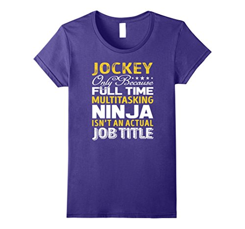 Womens Jockey Is Not An Actual Job Title TShirt Large Purple