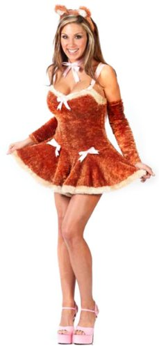 Adult Sexy Teddy Bear Girl Costume (Size:Md 8-14)
