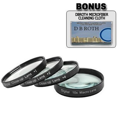 .+1, +2, +4, +10 Close Up Filter Set For The Canon EOS 5D Mark III, 60Da, 1D C, 6D, T4i, 650D Digital SLR Camera Which Has Any Of These (24-105mm, 24-70mm, 16-35mm, 17-40mm, 20-35mm, 10-22mm, 17-55mm, 100-400mm, 70-200mm f/2.8L) Canon Lenses by GBROTH