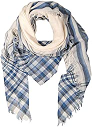 GIULIA BIONDI 100% made in Italy 100% Organic Cotton Natural Color Waved Scarf Shawl Wrap Soft Lightweight Women Men
