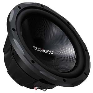 Kenwood Electronics KFC-W3013 - Subwoofer para coche (Pasivo, 400 W, 34 - 300 Hz, Caucho, Acero, Polipropileno, 326 mm) Negro
