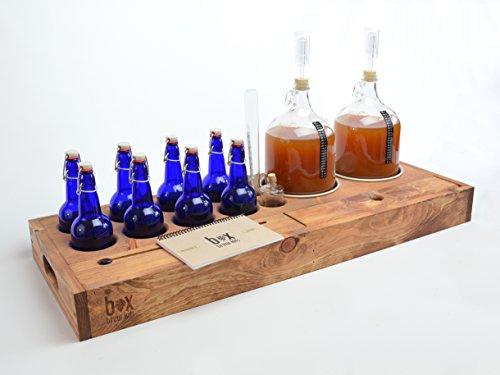 Handcrafted Making Brewing cobalt bottles