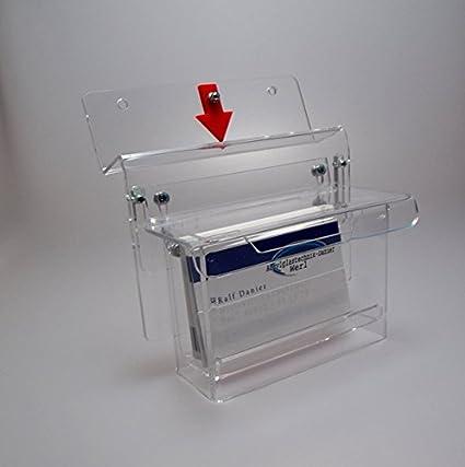 Visitenkartenbox Wetterfest Mit Aufmeksamkeitspfeil Visitenkartenhalter