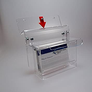 Werbung Visitenkarten Box Außeneinsatz Visitenkartenhalter