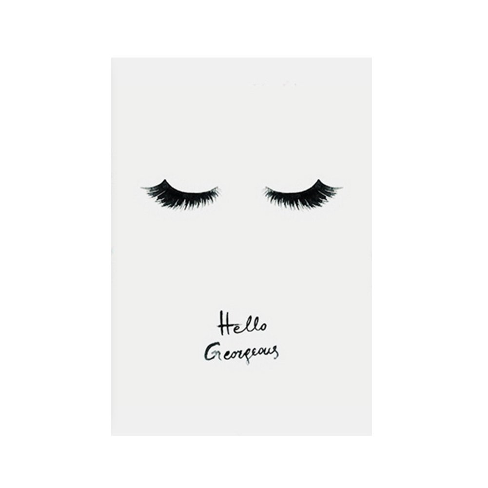 Lightclub Eye Lashes Pattern Frameless Canvas Painting Wall Art Home Decor Size 40x50cm by Lightclub