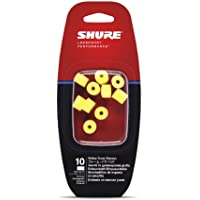 Shure EAYLF1-10 Foam Sleeves (10 Included/5 Pair) for SCL3, SCL4, SCL5, E3c, E4c, E5c, E500 & SE Earphones (Yellow)