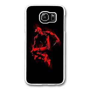 Samsung S6 Case, Galaxy S6 Case - Screatch-Resistant Crystal Clear Hard Case for Samsung Galaxy S6 Daredevil Marvel Comics Shock-Absorption Clear Hard Back Case for Samsung Galaxy S6