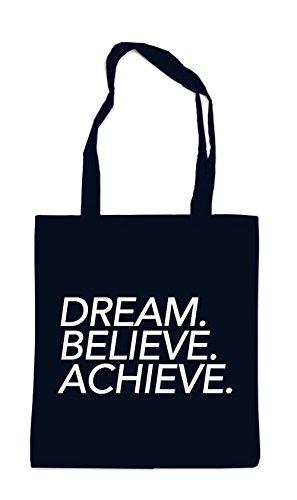 Dream Believe Achieve Bag Black