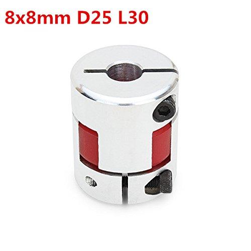 Chenxi tienda 8 mmx8 mm od25 mm x l30 mm aluminio Flexible arañ a eje CNC Motor paso a paso de acoplamiento acoplador conector ChenXi Shop