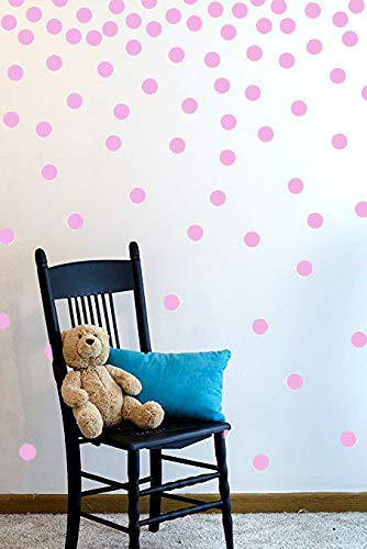 (The Open Canvas Wall Decal Dots (200 Decals) | Easy to Peel Easy to Stick + Safe on Painted Walls | Removable Vinyl Polka Dot Decor | Round Sticker Large)