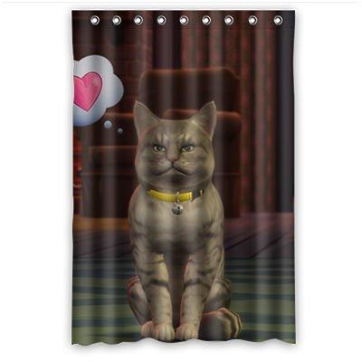 Personal Custom gato disfraz cortina de la ducha Shower Curtain ...