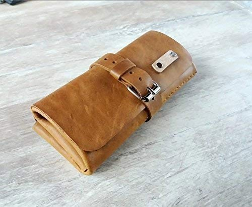 (Leather watch roll, Travel watch roll, Watch roll travel case, Watch roll traveler, Watch rolls for men, Leather watch roll case, Watch roll 3, watch Roll travel case leather, Leather watch pouch)