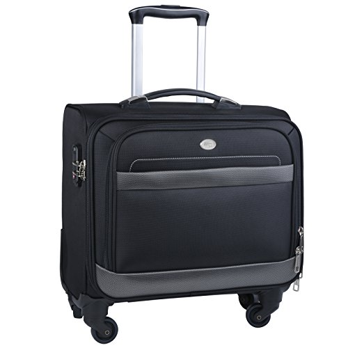 Rolling Laptop Case, COOFIT Nylon Rolling Laptop Briefcase Roller Laptop Bag by COOFIT (Image #7)