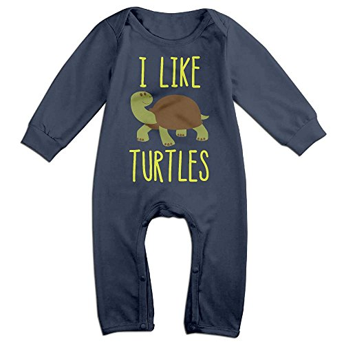 Pregnant Dead Baby Costume (Boy & Girl Infants I Like Turtles Long Sleeve Climb Jumpsuit 12 Months Navy)