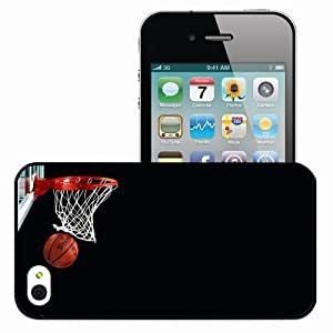 Personalized iPhone 4 4S Cell phone Case/Cover Skin Basketball Black