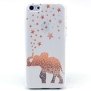 Zaki ships in 48 hours Golden Star Elephant Pattern PC Hard Case for iPhone 5C