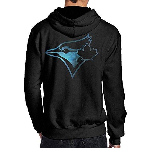SAMMOI Blue Toronto Jays Men's Long Sleeve Hoodie L Black -