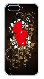 iPhone 5S Case - Customized Unique Design Love 5 New Fashion PC White Hard