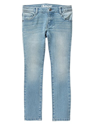 Crazy 8 Big Girls' Skinny Fit Jean, Light Wash, 8 (Girls Skinny Jeans)