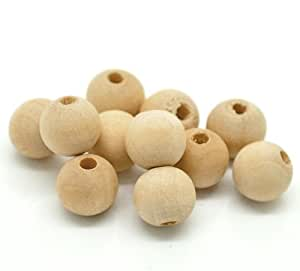 300PC Natural Wooden Beads Spacers 10x9mm Beading Supplies [Office Product]
