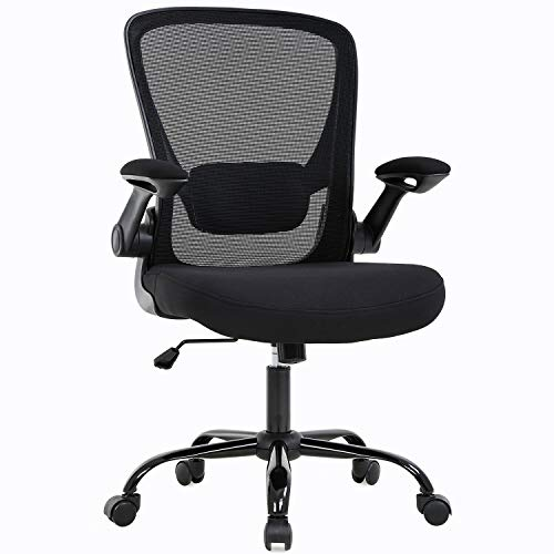 for Home Office Chair, Desk Chair Mesh Computer Swivel Rolling Executive Task Chair with Support Arms Mid Back, Black