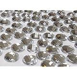 Crystals & Gems UK 100 X 10mm Gemmes En Strass Cristal Diamant Trasparent À Dos Plat À Coller Avec De La Colle!