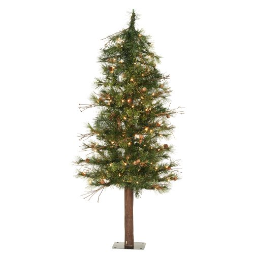 Country Pinecones Mixed Tree (Vickerman 6' Mixed Country Alpine Tree with 200 Clear lights)
