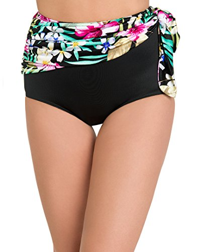 - Miraclesuit Womens Floral Majority Print Retro Sash Pant, 14